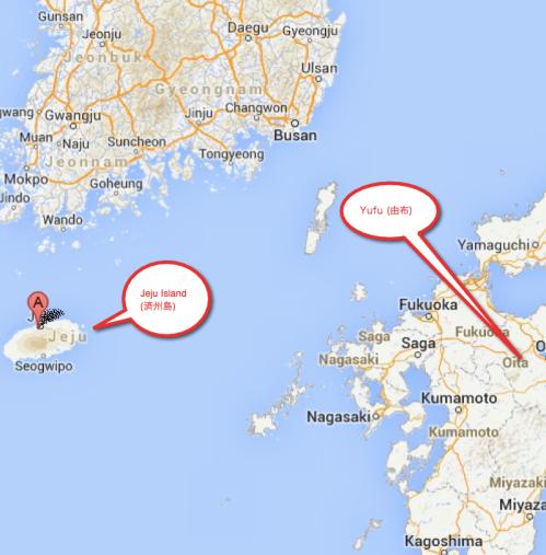 済州島地図